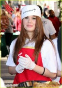 Debby Ryan at the Los Angeles Mission - 12/24/10