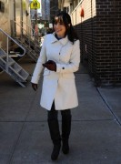 Sarah Shahi Candids On The Set Of ~ I Don't Know How She Does It ~ February 22, 2011