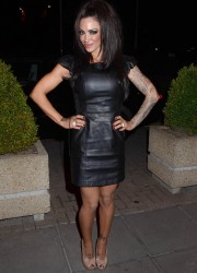 Jodie Marsh arriving at The Late Late Show in Dublin, Ireland 7th October x12